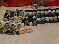 30+ small tubs of paint varied colours £5