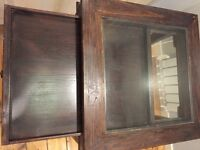 Glass top table with display drawer