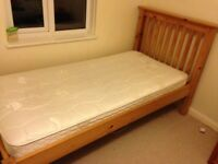 Single Pine Bed and Dorlux Mattress