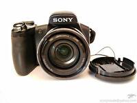Sony Cyber-Shot DSCHX1 Digital Camera - Black (9.1MP 20x Optical Zoom) 3.0 inch LCD