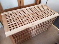Ikea Hol solid wood large storage table/ box