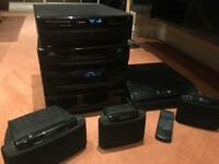 Kenwood RX-49 HIFI System W/ CD Changer, Turntable And 3 Speakers
