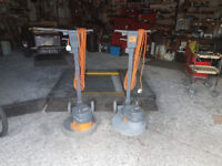 floor polishers / scrubbers x 2