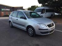 2009 VOLKSWAGEN POLO 1.2 5DR HATCHBACK SILVER low mileage only 37k