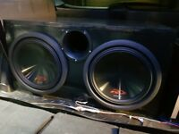 12 Inch Custom Made Subwoofer Sub Empty Box Enclosure for TWO Dual