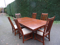 Dining Table - Extending with 6 Chairs.