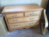 Vintage Satin wood chest of drawers