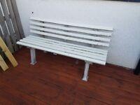 Garden Bench - White
