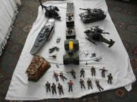 A large selection of used army toys.