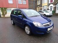 Vauxhall Zafira 7 seat 1.6 Life 59 plate for sale. Private owner