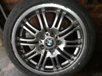 BMW M3 FRONT ALLOY WHEEL X TYRE