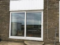 Large White UPVC sliding patio doors - used - Extension Bramley, LEEDS