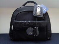 NWT Gorgeous Jasper Conran Black Lockable Box/Cabin/Vanity Style Handbag