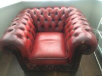 Oxblood Red Chesterfield armchair