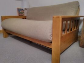 Futon Company oak futon