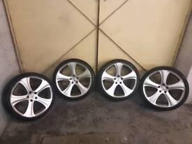 """20"""" 5x112 Khan alloy wheels"""