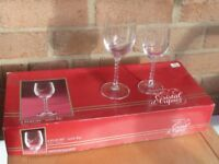 Boxed sets or Cryastal d Arques Wine Glasses