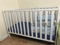 Mother care crib with mattress