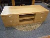 New ex-display, G-Plan solid light oak flat screen tv stand