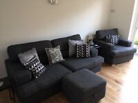 Sofa, Chair & Footstool