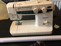 Sewing machine + fabric + others open to offers!