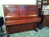 B. Squire & Son London overstrung upright piano
