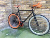Single speed fixed gear Fixie bike.