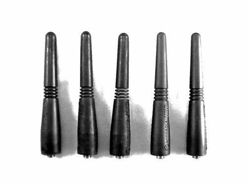 "Five Motorola PMAE4003 UHF Portable Stubby 3.5"" Antennas"