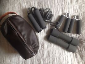 Weights Hand Grips and Skipping Rope Exercise Gym Set