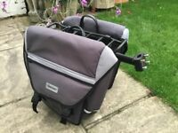 Bikehut panniers and rack (fixes to saddle post). Good condition, about 5 yrs old. £20ono