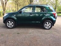 2009 DAIHATSU TERIOS KIRI GREEN, LOW MILES 59K, FULL DEALER HISTORY, 10 MONTHS MOT, EXCELLENT MOTOR