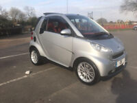 2008 08 SMART FORTWO PASSION CABRIOLET 999cc 51K MILES NEW MOT LOW INSURANCE RED INTERIOR ALLOYS