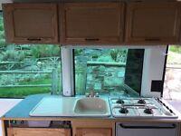 Caravan/Motorhome/Campervan Complete kitchen includes oven hob sink + tap Electrolux 3 way fridge
