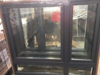 Timber window finished in RAL7011