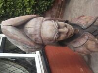5 FEET TALL CHAINSAW CARVING