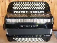 Borsini Orfeo VII, Double Cassotto, 4 Voice, Double Octave Tuned, Chromatic C System, 120B Accordion