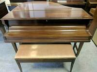 Stunning Dark Oak 'Eavestaff' Baby Grand Piano & Stool - CAN DELIVER