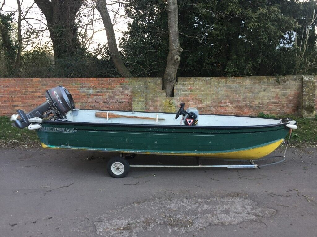 Quicksilver 16 foot Aluminium (Tin) Boat | in West Parley, Dorset | Gumtree