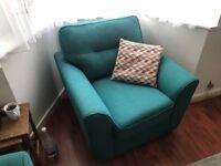 Sofa,armchair and footstool