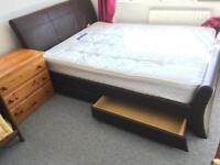 King size with 4 drawers and mattress