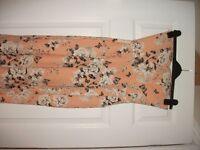 peach and floral design jumpsuit