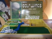 vintage old collectible board game Golf Winks Table Golf