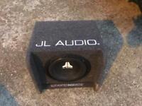 "Jl audio 10"" sub and jl audio amp,£80 no offers"