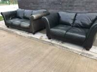 Dfs Leather sofas great quality lovely set can deliver local 😁🚛👍🏻