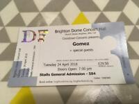 1x Gomez ticket, Brighton Dome - cost price
