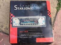 Starsonic car cd dvd mp3 player BRAND NEW wma mpeg4 divx jpeg receiver like JVC Kenwood