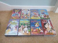 8 Disney VHS Videos