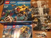 LEGO SET 60092 - DEEP SEA SUBMARINE (NEAR NEW)
