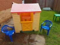little tikes play house cosy cottage wendy house den tykes children kids
