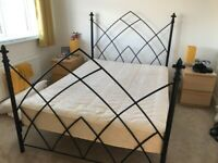 Gothic iron double bed